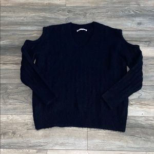 ZARA cable knit open shoulder sweater